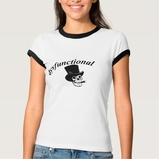 Skull with top hat t shirt