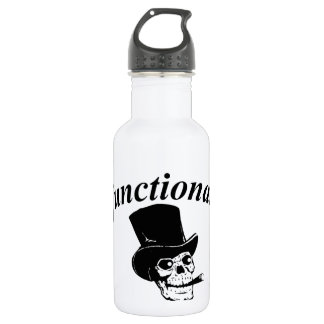 Skull with top hat water bottle