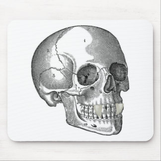 SKULL WITH VAMPIRE FANGS MOUSE PAD