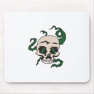 SKULL WITH VINES MOUSE PAD
