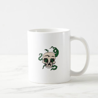 SKULL WITH VINES CLASSIC WHITE COFFEE MUG
