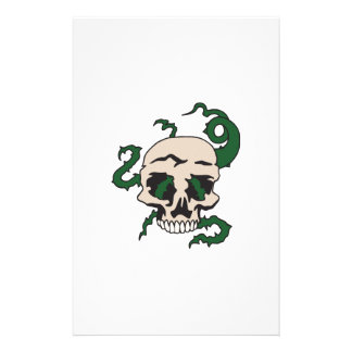 SKULL WITH VINES PERSONALIZED STATIONERY