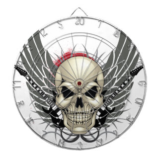 Skull with Wings and Guitars Dartboards