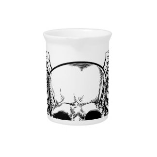 Skull with Wings Beverage Pitcher