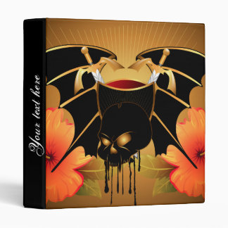 Skull with wings 3 ring binder