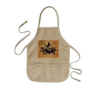 Skull with wings kids' apron