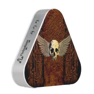 Skull with wings on dark background speaker