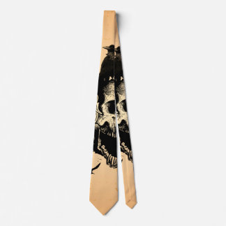 Skull with wings tie