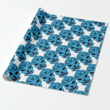 Halloween Themed Skull Wrapping Paper