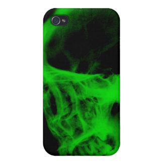 Skull X-Ray iPhone 3 Case Black Neon Green iPhone 4 Case