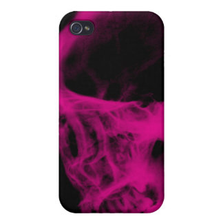 Skull X-Ray iPhone 4 Case Black Hot Pink