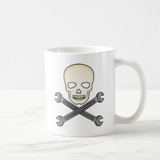 Skull & X-Wrench Coffee Mug