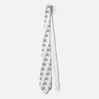 Skull & X-Wrench Tie