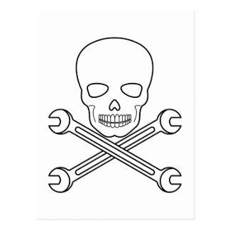 Skull-X-Wrenchs Postcard
