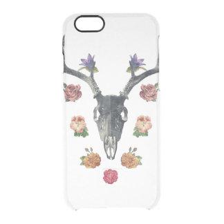 #Skull y #flowers Funda Clearly™ Deflector Para iPhone 6 De Uncommon