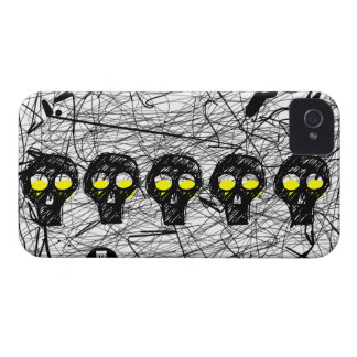 Skull Yellow Eyes Scratch iPhone 4 Case-Mate Case