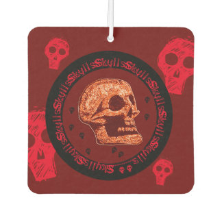Skull - Yellow/White Air Freshener