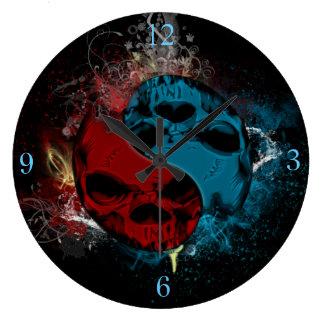 Skull Yin Yang Clock