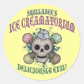 Skullabee's Ice Creamatorium Classic Round Sticker