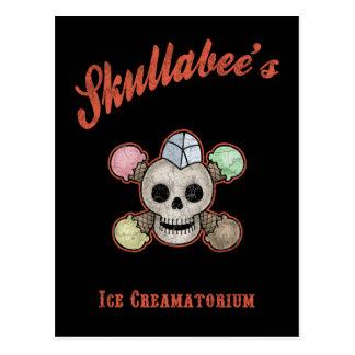 Skullabee's Ice Creamatorium Postcard
