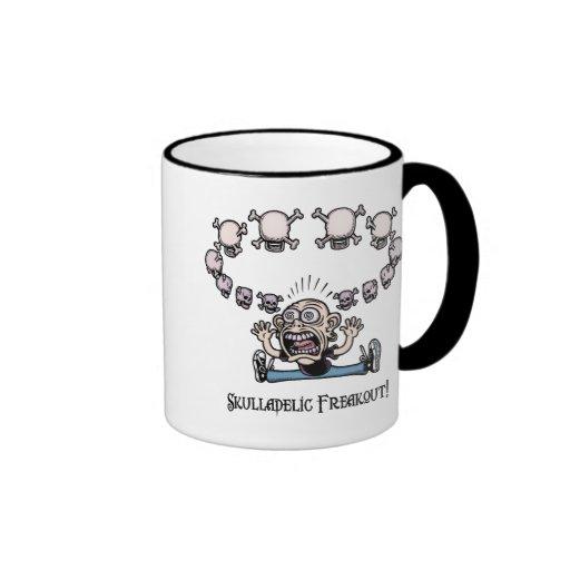 Skulladelic Freakout! Ringer Coffee Mug