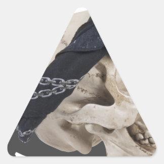 SkullAndBandana103013.png Pegatina Triangular