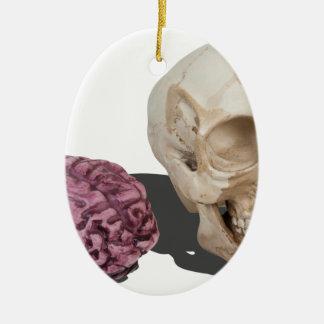 SkullandBrains103013.png Ceramic Ornament