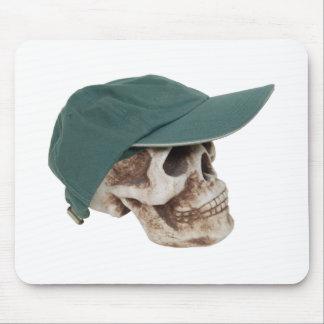 SkullBaseballCap032709 Mouse Pad