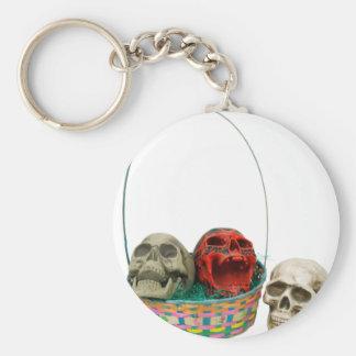 SkullBasket042109 Keychains