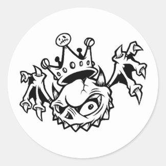 skullbat classic round sticker