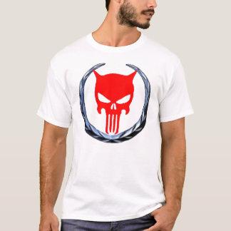 skullblkcadredwhite T-Shirt