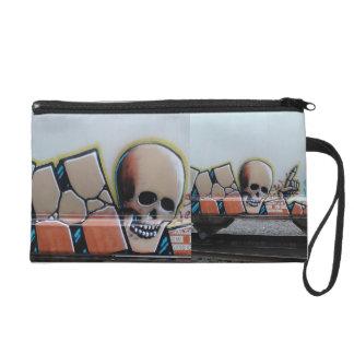Skullboy on a Train Wristlet