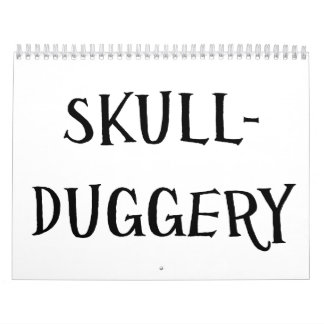 Skullduggery Calendario De Pared