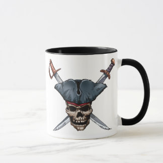 Skulle and Cross Swords with Pirate Hat Disney Mug