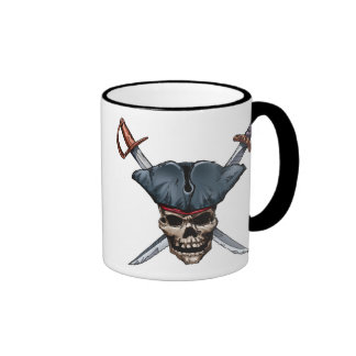 Skulle and Cross Swords with Pirate Hat Disney Coffee Mug