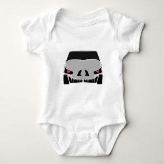 Skulled car baby bodysuit