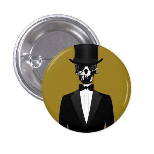 SkulledGent Pinback Button