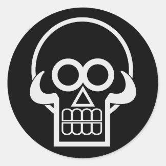 Skullery Classic Round Sticker