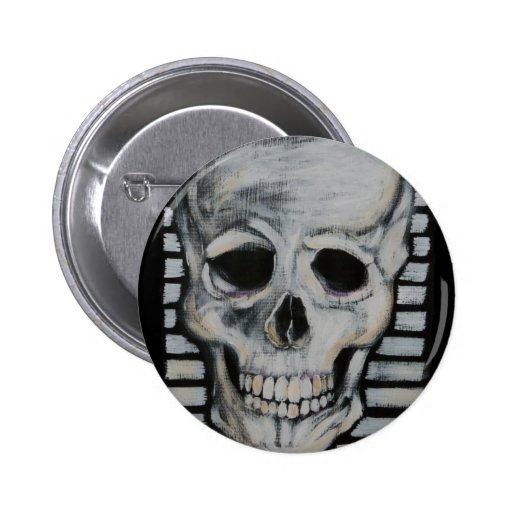 Skullface Pin Redondo 5 Cm