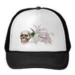 SkullFlowers051409 Hats