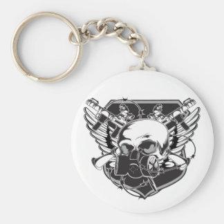 skullgasmask keychain