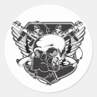 skullgasmask sticker