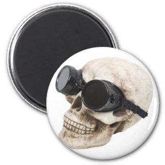 SkullGoggles073109 2 Inch Round Magnet
