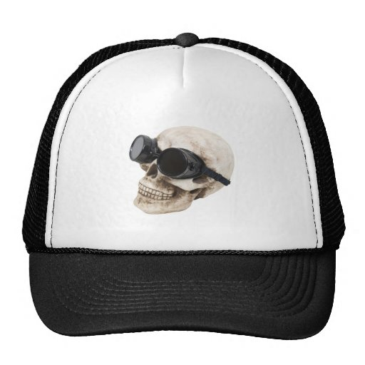 SkullGoggles073109 Trucker Hats