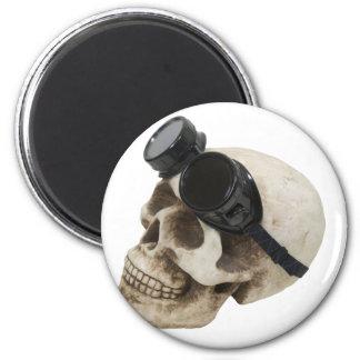 SkullGogglesUp073109 2 Inch Round Magnet