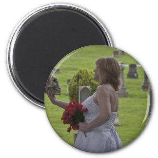 SkullGraveyard091810Hor 2 Inch Round Magnet