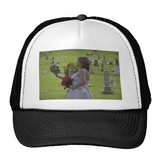 SkullGraveyard091810Hor Trucker Hat