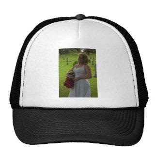 SkullGraveyardGreen091810Vert Trucker Hat