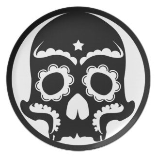 Skullie Graphic Party Plates