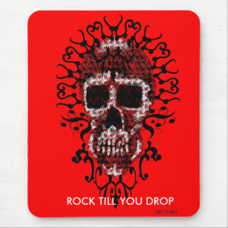Skullie - Rock Till You Drop-Mouse Pad Mouse Pad
